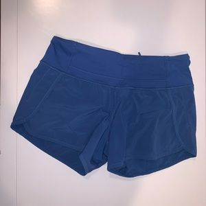 Blue Lululemon Run Times Shorts 4""